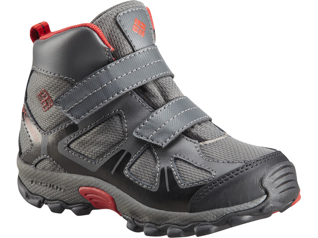 Columbia Peakfreak XCRSN Mid WP Kengät Lapset, city grey/bright red